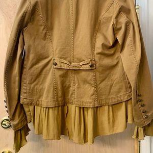 Free People Military Ruffle Jacket